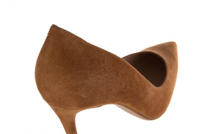 Szpilki bayla-182 2149 carmel zamsz, skóra naturalna  - do szpica - szpilki - buty damskie - kobieta 5