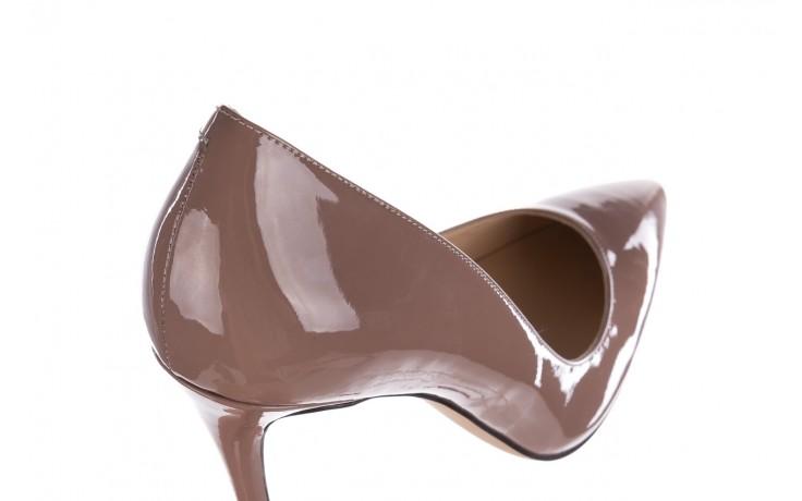 Szpilki bayla-182 2149 latte lakier, skóra naturalna lakierowana  - do szpica - szpilki - buty damskie - kobieta 5