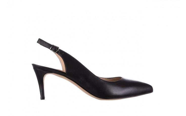 Sandały bayla-182 18014 czarne lico, skóra naturalna  - skórzane - szpilki - buty damskie - kobieta