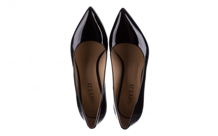 Czółenka bayla-182 6168 czarny lakier, skóra naturalna lakierowana  - skórzane - szpilki - buty damskie - kobieta 4