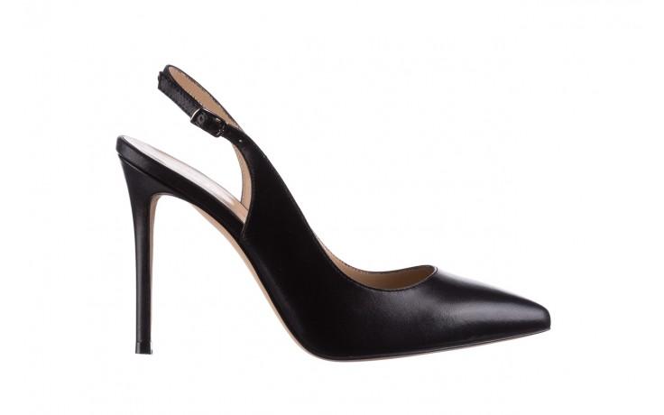 Sandały bayla-182 18122 czarne lico, skóra naturalna  - skórzane - szpilki - buty damskie - kobieta