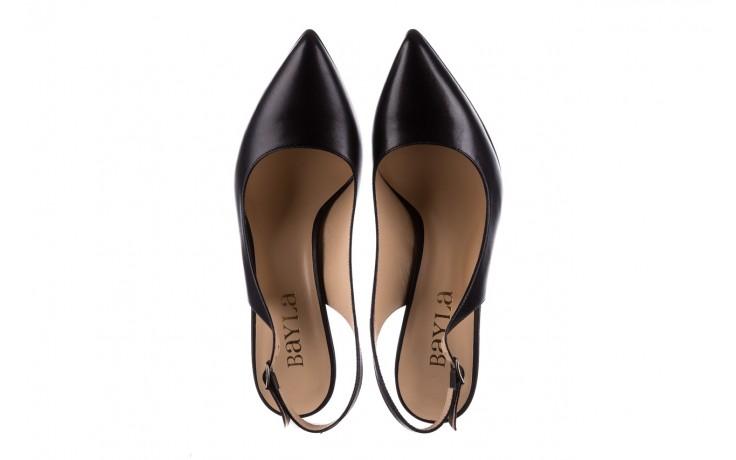 Sandały bayla-182 18122 czarne lico, skóra naturalna  - skórzane - szpilki - buty damskie - kobieta 4