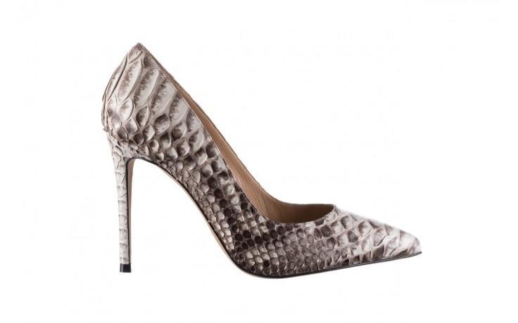 Szpilki bayla-182 2149 jasnoszare łuska, skóra naturalna  - skórzane - szpilki - buty damskie - kobieta