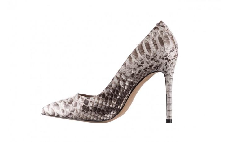 Szpilki bayla-182 2149 jasnoszare łuska, skóra naturalna  - skórzane - szpilki - buty damskie - kobieta 2