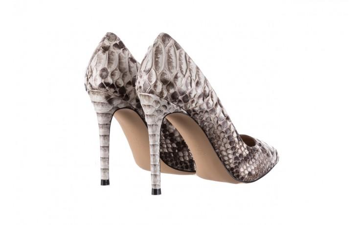 Szpilki bayla-182 2149 jasnoszare łuska, skóra naturalna  - skórzane - szpilki - buty damskie - kobieta 3