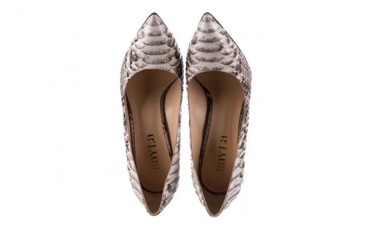 Szpilki bayla-182 2149 jasnoszare łuska, skóra naturalna  - skórzane - szpilki - buty damskie - kobieta 4