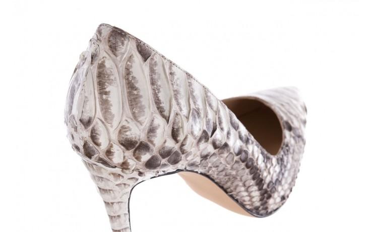 Szpilki bayla-182 2149 jasnoszare łuska, skóra naturalna  - skórzane - szpilki - buty damskie - kobieta 5