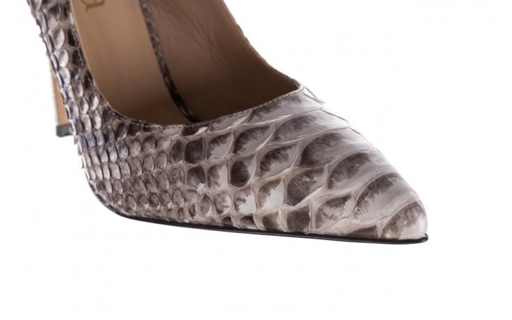 Szpilki bayla-182 2149 jasnoszare łuska, skóra naturalna  - skórzane - szpilki - buty damskie - kobieta 6