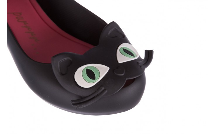 Baleriny melissa ultragirl cat ii ad black pink, czarny, guma 5