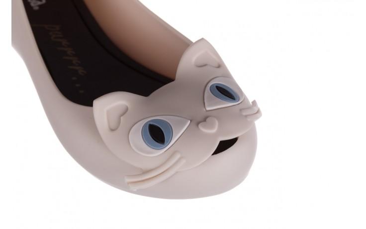Baleriny melissa ultragirl cat ii ad beige black, beż, guma - melissa - nasze marki 5