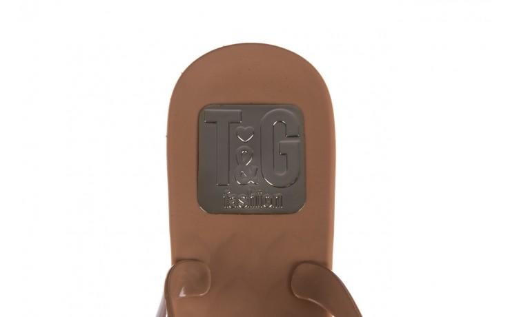 Klapki t&g fashion 22-1368315 camel, brąz, guma - tg - nasze marki 6
