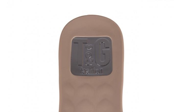 Klapki t&g fashion 22-1348679 nude, beż, guma - tg - nasze marki 6