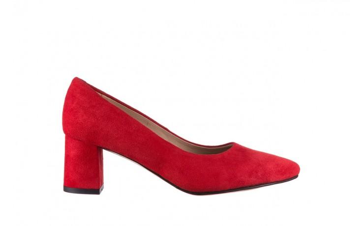 Czółenka bayla-185 185 109 czerwony zamsz, skóra naturalna  - bayla - nasze marki