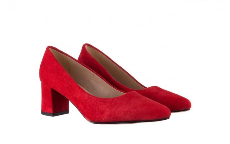 Czółenka bayla-185 185 109 czerwony zamsz, skóra naturalna  - bayla - nasze marki 1