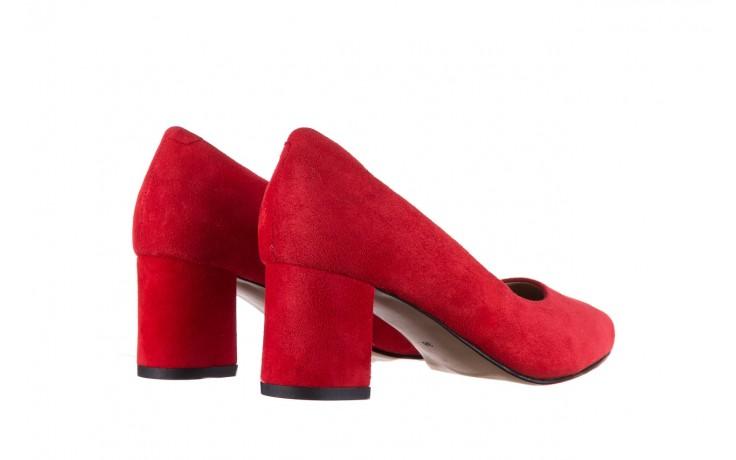 Czółenka bayla-185 185 109 czerwony zamsz, skóra naturalna  - bayla - nasze marki 3