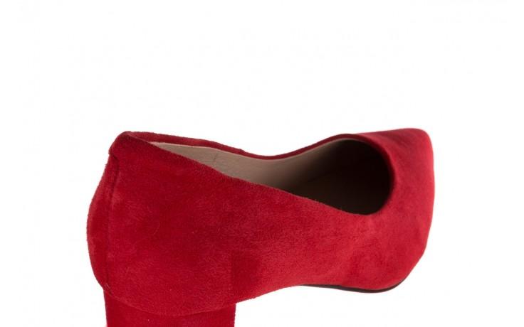 Czółenka bayla-185 185 109 czerwony zamsz, skóra naturalna  - bayla - nasze marki 5