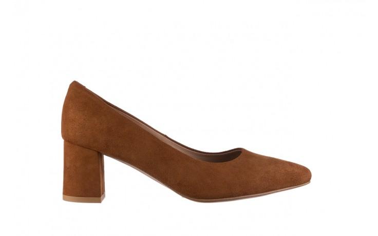 Czółenka bayla-185 185 109 rudy zamsz, skóra naturalna  - na słupku - czółenka - buty damskie - kobieta