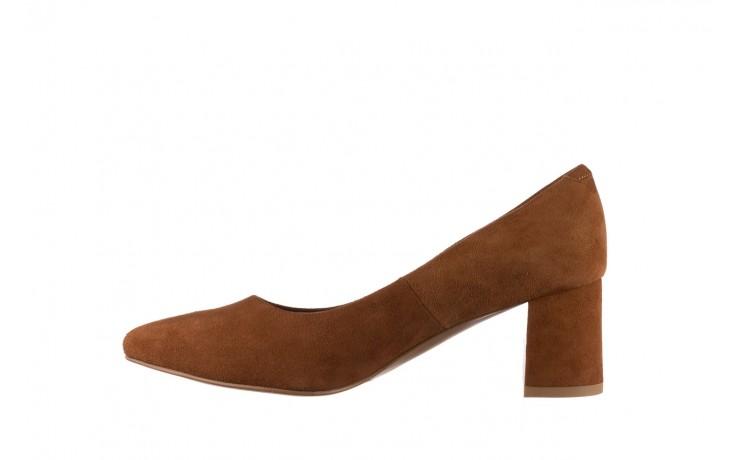 Czółenka bayla-185 185 109 rudy zamsz, skóra naturalna  - na słupku - czółenka - buty damskie - kobieta 2