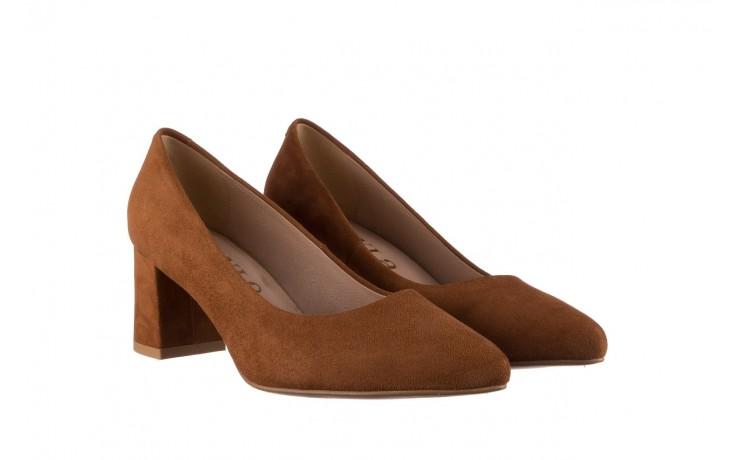 Czółenka bayla-185 185 109 rudy zamsz, skóra naturalna  - na słupku - czółenka - buty damskie - kobieta 1