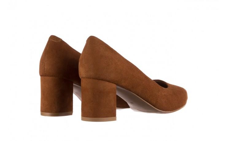 Czółenka bayla-185 185 109 rudy zamsz, skóra naturalna  - na słupku - czółenka - buty damskie - kobieta 3