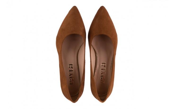Czółenka bayla-185 185 109 rudy zamsz, skóra naturalna  - na słupku - czółenka - buty damskie - kobieta 4