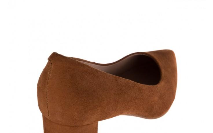 Czółenka bayla-185 185 109 rudy zamsz, skóra naturalna  - na słupku - czółenka - buty damskie - kobieta 5