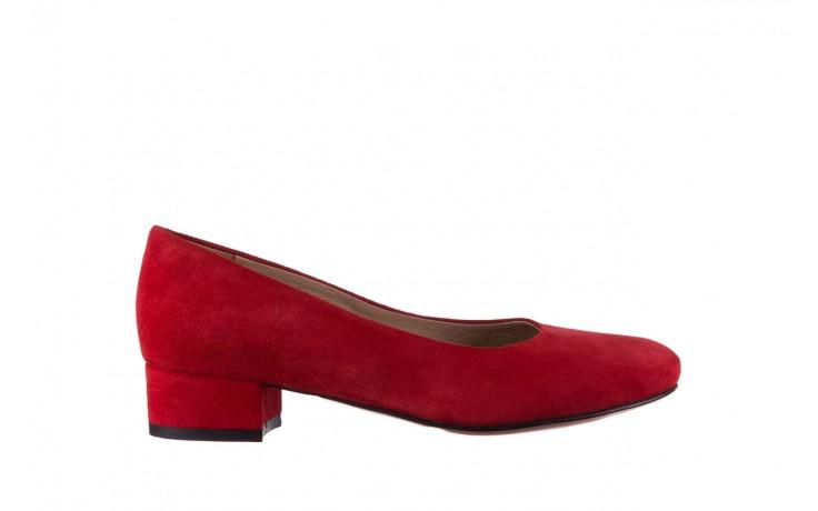 Czółenka bayla-185 185 107 czerwony zamsz, skóra naturalna  - czółenka i szpilki - dla niej  - sale