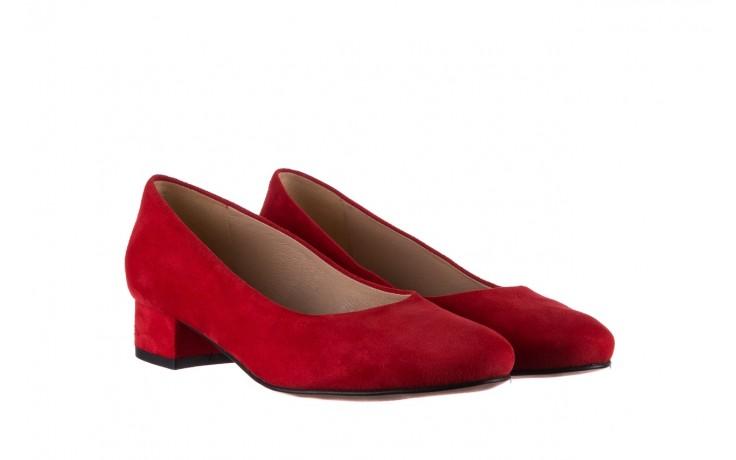 Czółenka bayla-185 185 107 czerwony zamsz, skóra naturalna  - bayla - nasze marki 1