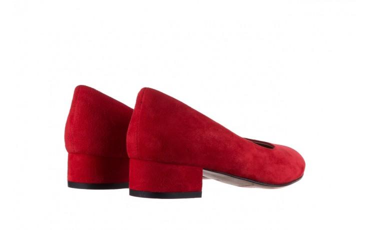 Czółenka bayla-185 185 107 czerwony zamsz, skóra naturalna  - bayla - nasze marki 3
