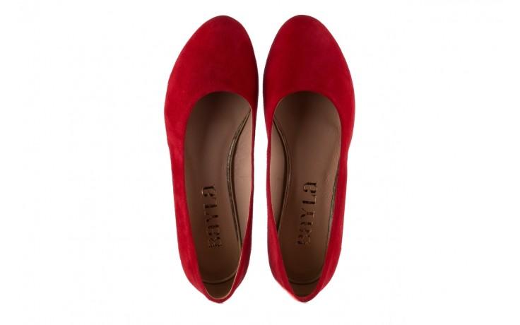 Czółenka bayla-185 185 107 czerwony zamsz, skóra naturalna  - bayla - nasze marki 4
