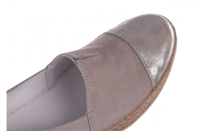 Espadryle bayla-100 485 szary, skóra naturalna  - espadryle - buty damskie - kobieta 5