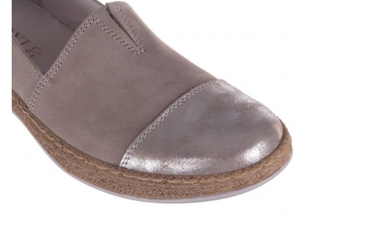 Espadryle bayla-100 485 szary, skóra naturalna  - espadryle - buty damskie - kobieta 6