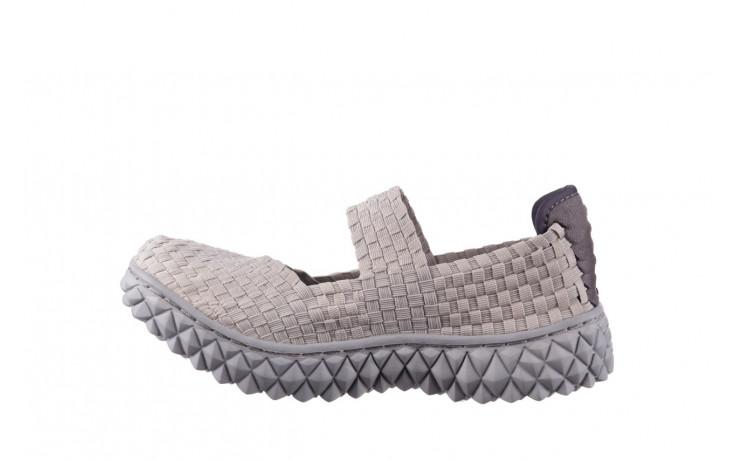 Półbuty rock over lt grey 21 032857, szary, materiał - wsuwane - półbuty - buty damskie - kobieta 2