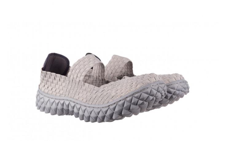 Półbuty rock over lt grey 21 032857, szary, materiał - wsuwane - półbuty - buty damskie - kobieta 1