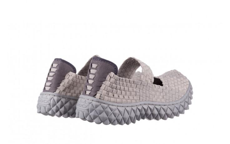 Półbuty rock over lt grey 21 032857, szary, materiał - wsuwane - półbuty - buty damskie - kobieta 3