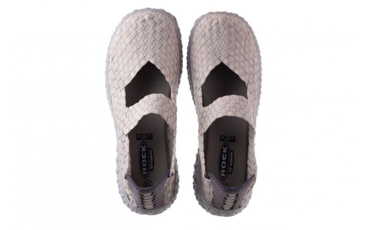 Półbuty rock over lt grey 21 032857, szary, materiał - wsuwane - półbuty - buty damskie - kobieta 4