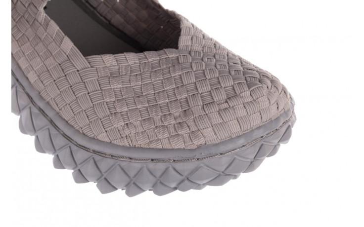 Półbuty rock over lt grey 21 032857, szary, materiał - wsuwane - półbuty - buty damskie - kobieta 6