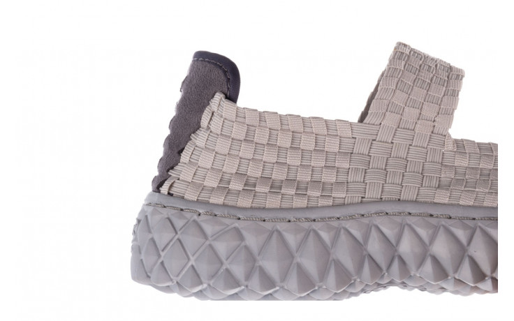 Półbuty rock over lt grey 21 032857, szary, materiał - wsuwane - półbuty - buty damskie - kobieta 5