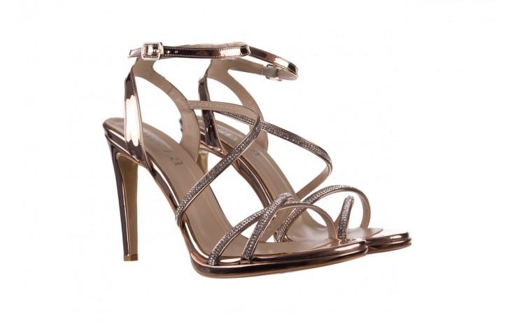 Sandały bayla-187 589-9078 róż j, skóra ekologiczna  - na obcasie - sandały - buty damskie - kobieta 1