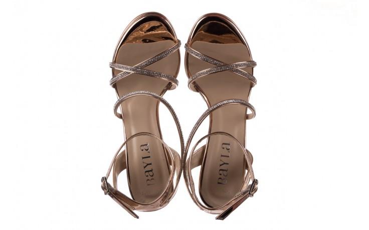 Sandały bayla-187 589-9078 róż j, skóra ekologiczna  - na obcasie - sandały - buty damskie - kobieta 4