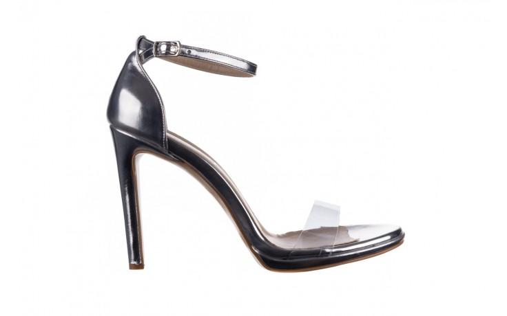 Sandały bayla-187 589-571 srebro, skóra ekologiczna  - na szpilce - sandały - buty damskie - kobieta