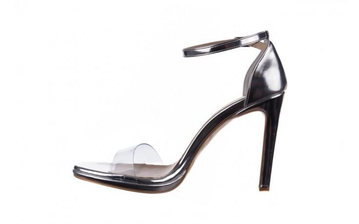 Sandały bayla-187 589-571 srebro, skóra ekologiczna  - na szpilce - sandały - buty damskie - kobieta 2