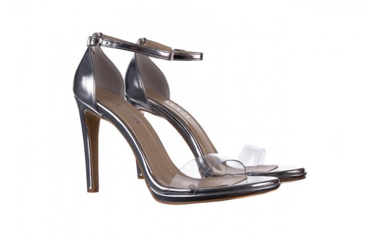 Sandały bayla-187 589-571 srebro, skóra ekologiczna  - na szpilce - sandały - buty damskie - kobieta 1