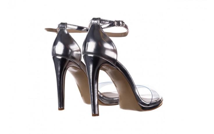 Sandały bayla-187 589-571 srebro, skóra ekologiczna  - na szpilce - sandały - buty damskie - kobieta 3