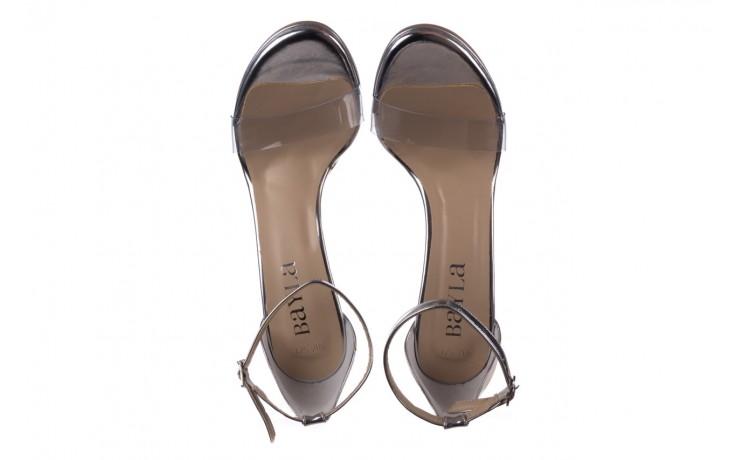 Sandały bayla-187 589-571 srebro, skóra ekologiczna  - na szpilce - sandały - buty damskie - kobieta 4