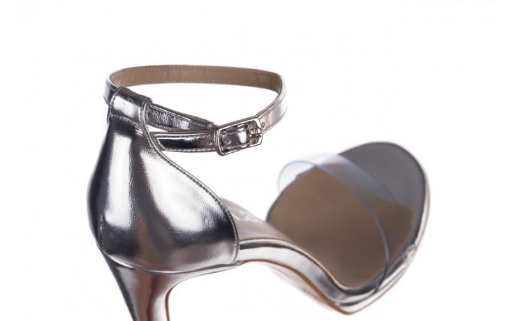 Sandały bayla-187 589-571 srebro, skóra ekologiczna  - na szpilce - sandały - buty damskie - kobieta 6