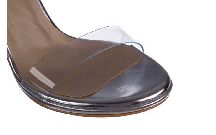Sandały bayla-187 589-571 srebro, skóra ekologiczna  - na szpilce - sandały - buty damskie - kobieta 5