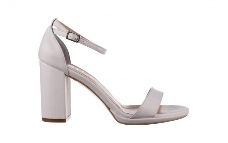 Sandały bayla-187 587-571 biały, skóra ekologiczna  - peep toe - czółenka - buty damskie - kobieta