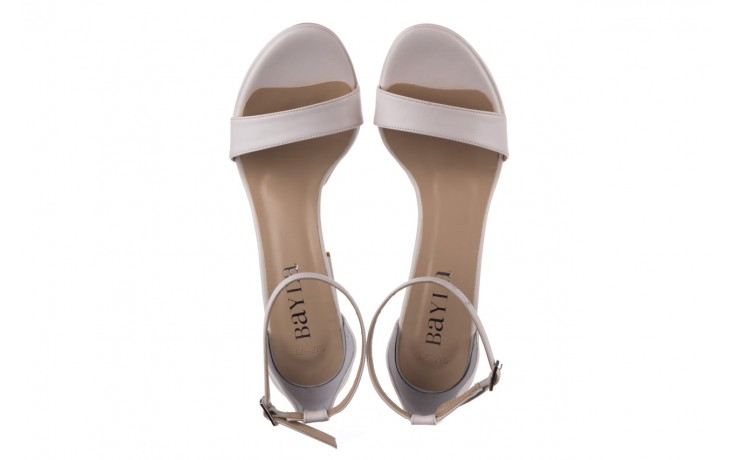 Sandały bayla-187 587-571 biały, skóra ekologiczna  - peep toe - czółenka - buty damskie - kobieta 4