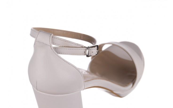 Sandały bayla-187 587-571 biały, skóra ekologiczna  - peep toe - czółenka - buty damskie - kobieta 5